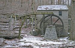 Παλαιά Gristmill και Spillway Στοκ εικόνα με δικαίωμα ελεύθερης χρήσης