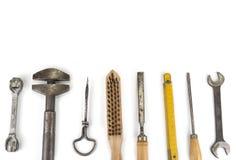 Παλαιά handyman εργαλεία στο άσπρο υπόβαθρο Στοκ φωτογραφία με δικαίωμα ελεύθερης χρήσης