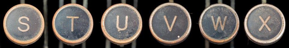 παλαιά s γραφομηχανή Χ πλήκτρων Στοκ Φωτογραφίες