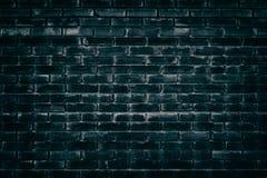 Παλαιά shabby σκοτεινή τυρκουάζ σύσταση τουβλότοιχος - grunge υπόβαθρο στοκ εικόνα με δικαίωμα ελεύθερης χρήσης
