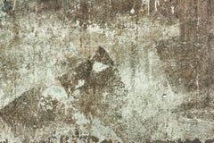Παλαιά shabby σύσταση συμπαγών τοίχων με το ραγισμένο καφετί χρώμα Στοκ Εικόνα
