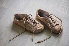 Παλαιά stinky πάνινα παπούτσια στοκ φωτογραφία