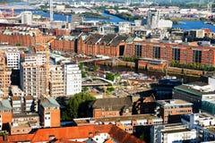 παλαιές αποθήκες εμπορ&eps Στοκ Φωτογραφίες