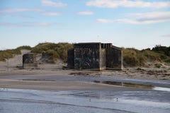Παλαιές αποθήκες στην παραλία Στοκ Φωτογραφία