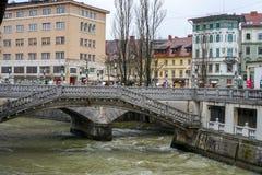 Παλαιές απόψεις Σλοβενία, Λουμπλιάνα πόλεων Στοκ Φωτογραφία
