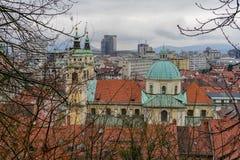 Παλαιές απόψεις Σλοβενία, Λουμπλιάνα πόλεων Στοκ εικόνα με δικαίωμα ελεύθερης χρήσης