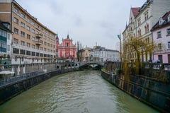 Παλαιές απόψεις Σλοβενία, Λουμπλιάνα πόλεων Στοκ φωτογραφία με δικαίωμα ελεύθερης χρήσης