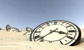 Παλαιές 'Ενδείξεις ώρασ' στην άμμο ερήμων Στοκ Εικόνες
