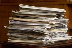 Παλαιές εφημερίδες Στοκ εικόνες με δικαίωμα ελεύθερης χρήσης