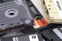 Παλαιές ηχητικές κασέτες Στοκ εικόνα με δικαίωμα ελεύθερης χρήσης