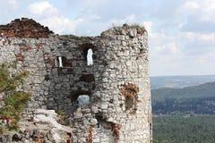 Παλαιές καταστροφές κάστρων στιλβωτικής ουσίας Στοκ Εικόνες