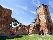 Παλαιές καταστροφές φρουρίων Golshany, Λευκορωσία Στοκ Εικόνα