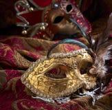 Παλαιές μάσκες καρναβαλιού Στοκ Εικόνες
