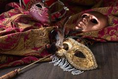 Παλαιές μάσκες καρναβαλιού Στοκ φωτογραφίες με δικαίωμα ελεύθερης χρήσης