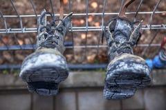 Παλαιές μαύρες μπότες Στοκ φωτογραφία με δικαίωμα ελεύθερης χρήσης