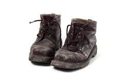 Παλαιές μπότες στρατού Στοκ Εικόνες