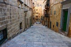 Παλαιές οδοί Valletta, Μάλτα Στοκ εικόνες με δικαίωμα ελεύθερης χρήσης