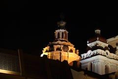 Παλαιές πόλης στέγες Vilnius τη νύχτα Στοκ εικόνες με δικαίωμα ελεύθερης χρήσης