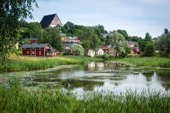 Παλαιές πόλη και εκκλησία Στοκ φωτογραφία με δικαίωμα ελεύθερης χρήσης