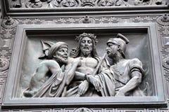 Παλαιές πύλες του καθεδρικού ναού Αγίου Isaacs σε Άγιο Πετρούπολη, Ρωσία στοκ εικόνες