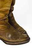 Παλαιές φορεμένες μπότες ύφους κάουμποϋ Στοκ εικόνες με δικαίωμα ελεύθερης χρήσης