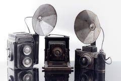 Παλαιές φωτογραφικές μηχανές Στοκ εικόνες με δικαίωμα ελεύθερης χρήσης