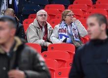 Παλαιοί ανεμιστήρες της Real Madrid στοκ εικόνα με δικαίωμα ελεύθερης χρήσης