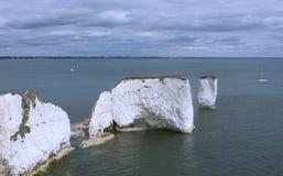 Παλαιοί βράχοι Dorset UK του Harry Στοκ Φωτογραφίες