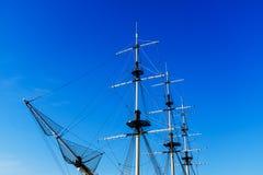 Παλαιοί ιστός και σχοινιά Schooner Στοκ εικόνες με δικαίωμα ελεύθερης χρήσης