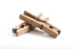 Παλαιοί ξύλινοι γόμφοι ενδυμάτων Στοκ φωτογραφίες με δικαίωμα ελεύθερης χρήσης