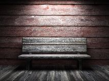 Παλαιοί ξύλινοι τοίχος και πάγκος Στοκ εικόνα με δικαίωμα ελεύθερης χρήσης