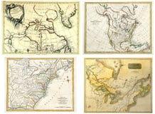 παλαιοί χάρτες συλλογή&sig Στοκ Φωτογραφία