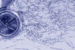 παλαιοί χάρτες Στοκ Εικόνες