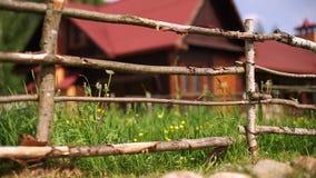 παλαιός αγροτικός φραγών απόθεμα βίντεο