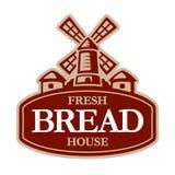 Παλαιός ανεμόμυλος, πρότυπο σχεδίου λογότυπων αρτοποιείων επίσης corel σύρετε το διάνυσμα απεικόνισης διανυσματική απεικόνιση