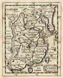 παλαιός Ασία Κίνα duval χάρτης 1685 Στοκ Εικόνες