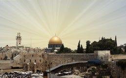 παλαιός βράχος της Ιερουσαλήμ θόλων sity Στοκ φωτογραφία με δικαίωμα ελεύθερης χρήσης