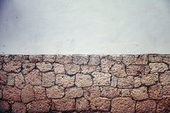 Παλαιός βρώμικος εν μέρει τουβλότοιχος, υπόβαθρο ή ταπετσαρία αργίλου Στοκ εικόνα με δικαίωμα ελεύθερης χρήσης
