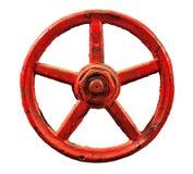 Παλαιός εκλεκτής ποιότητας κόκκινος στρογγυλός κρουνός που απομονώνεται Στοκ φωτογραφίες με δικαίωμα ελεύθερης χρήσης
