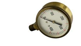 Παλαιός εκλεκτής ποιότητας μετρητής πίεσης ορείχαλκου στοκ φωτογραφία με δικαίωμα ελεύθερης χρήσης