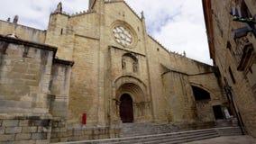 Παλαιός καθεδρικός ναός Plasencia ή Catedral de Σάντα Μαρία, Ισπανία απόθεμα βίντεο
