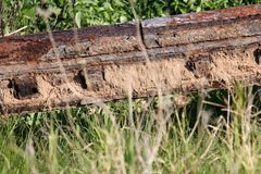 Παλαιός και σκουριασμένος σίδηρος Στοκ Εικόνες