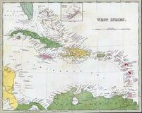 παλαιός καραϊβικός χάρτης &t ελεύθερη απεικόνιση δικαιώματος