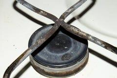 Παλαιός καυστήρας σομπών αερίου Στοκ φωτογραφία με δικαίωμα ελεύθερης χρήσης