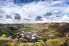 Παλαιός κρατήρας στο νησί Πάσχας Στοκ Φωτογραφίες