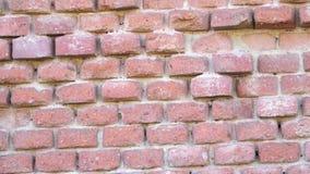 παλαιός κόκκινος τοίχος τούβλου τούβλο τοίχος απόθεμα βίντεο