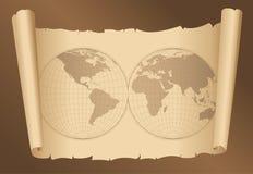 παλαιός κόσμος εγγράφου απεικόνιση αποθεμάτων