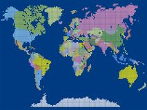 Παλαιός Κόσμος χαρτών απεικόνισης στοκ φωτογραφία με δικαίωμα ελεύθερης χρήσης