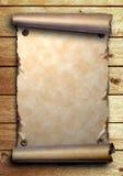 παλαιός κύλινδρος εγγράφου χαρτονιών ξύλινος διανυσματική απεικόνιση