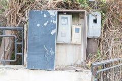 Παλαιός μετρητής ηλεκτρικής ενέργειας, Ελλάδα στοκ φωτογραφίες με δικαίωμα ελεύθερης χρήσης